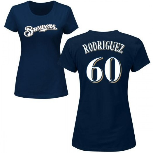 Ronny Rodriguez Milwaukee Brewers Women's Navy Roster Name & Number T-Shirt -